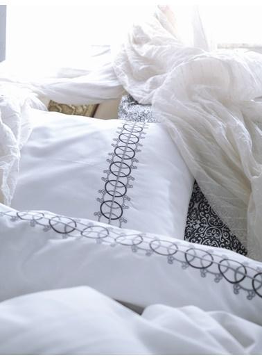 Cotton Box Pamuk Saten Çift Kisilik Nevresim Takımı Paola Gri Gri